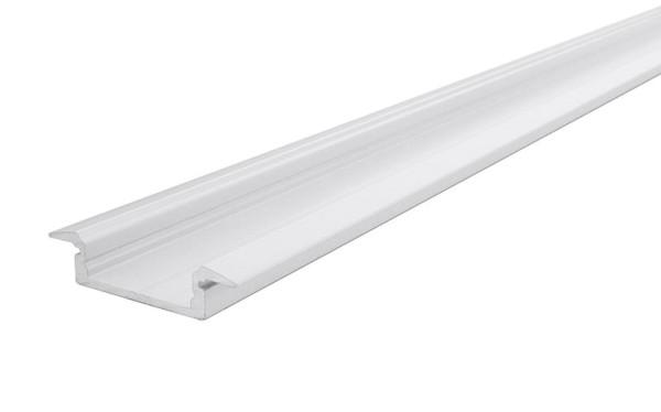 Reprofil Profil, T-Profil flach ET-01-15, Aluminium, Weiß-matt, 1000mm