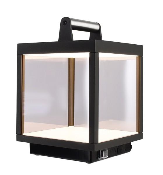 Deko-Light Tischleuchte, Lacertae USB, Aluminium Druckguss, dunkelgrau, Warmweiß, 120°, 5W, 5V