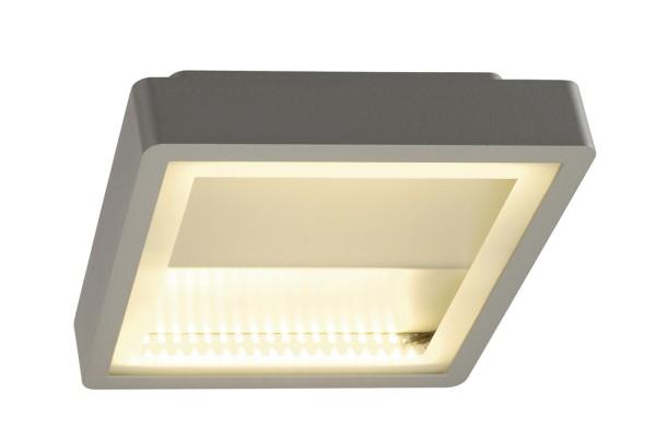INDIGLA WING, Deckenleuchte, LED, 3000K, IP54, silbergrau, 72W
