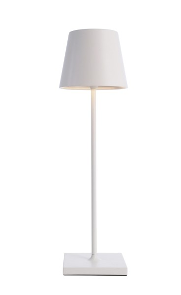 Deko-Light Tischleuchte, Sheratan I, Aluminium Druckguss, weiß, Warmweiß, 106°, 2W, 5V, 100x100mm