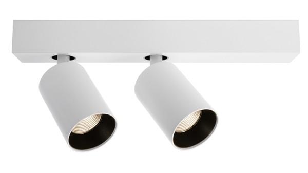 Deko-Light Deckenaufbauleuchte, Klara II, Aluminium, weiß matt, Warmweiß, 35°, 18W, 230V, 336x60mm