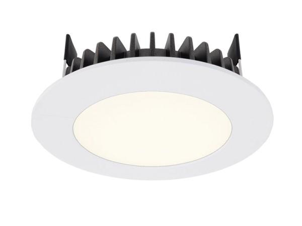Deko-Light Deckeneinbauleuchte, LED Panel Round III 6, Aluminium Druckguss, weiß, Neutralweiß, 100°