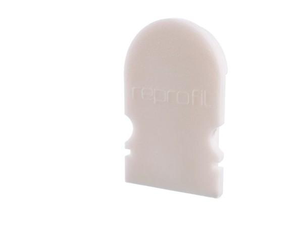Reprofil Profil Zubehör, Endkappe R-AU-02-08 Set 2 Stk, Kunststoff, Weiß, 14x6mm