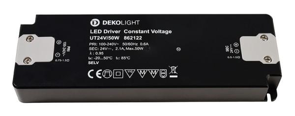 Deko-Light Netzgerät, FLAT, UT24V/50W, Kunststoff, Schwarz, 50W, 24V, 185x62mm