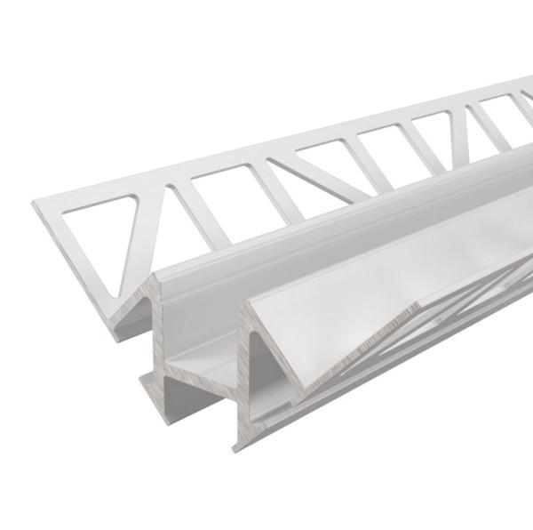Reprofil Profil, Fliesen-Profil Ecke innen EV-01-12, Aluminium, Weiß lackiert, 1250mm