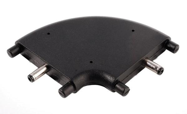 Deko-Light Zubehör, Winkelverbinder Mia flach, schwarz, Kunststoff, Schwarz, 24V, 47x38mm