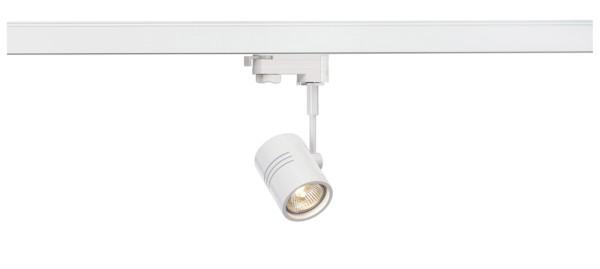BIMA 1, Spot für Hochvolt-Stromschiene 3Phasen, einflammig, QPAR51, rund, weiß matt, max. 50W