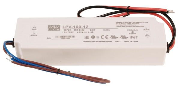 Meanwell Netzgerät, LPV-100-12, Kunststoff, Weiß, 100W, 12V, 190x52mm