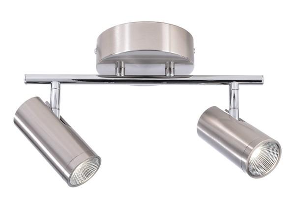 Deko-Light Deckenaufbauleuchte, Becrux II, Aluminium Strangpressprofil, silberfarben gebürstet, 120°