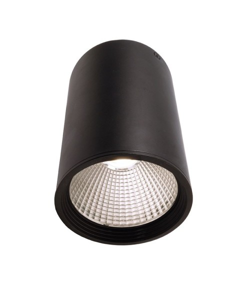 Deko-Light Deckenaufbauleuchte, Luna 20, Aluminium Druckguss, schwarz mattiert, Neutralweiß, 40°