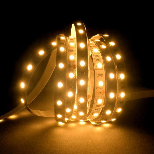 Flexibler LED Strip, 5m, 5050, SMD, Warmweiß, 12V DC, 10,80 W/m