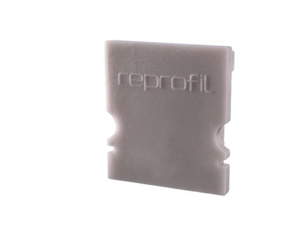 Reprofil Profil Zubehör, Endkappe H-AU-02-12 Set 2 Stk, Kunststoff, Grau, 18x6mm