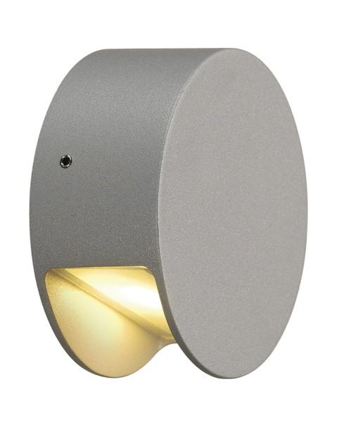 PEMA, Wandleuchte, LED, 3000K, IP44 , silbergrau, 4 W