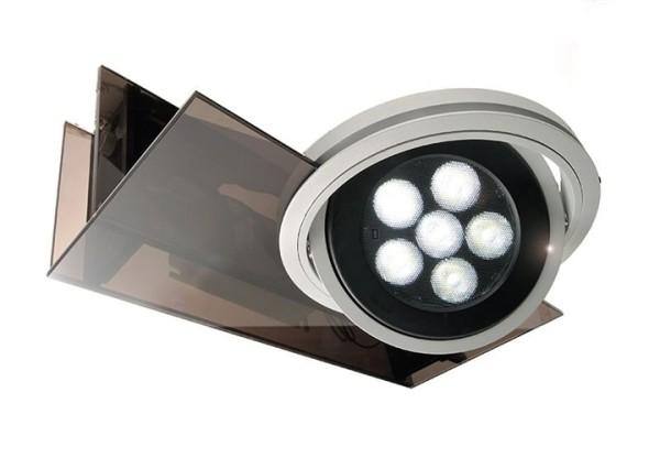 Kapego Wandaufbauleuchte, Parasol I, exklusive Leuchtmittel, spannungskonstant, 220-240V AC/50-60Hz