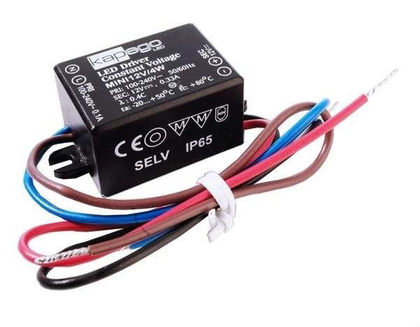 Deko-Light Netzgerät, MINI, 12V/4W, Polycarbonat, Schwarz, 4W, 12V, 330mA, 38x27mm