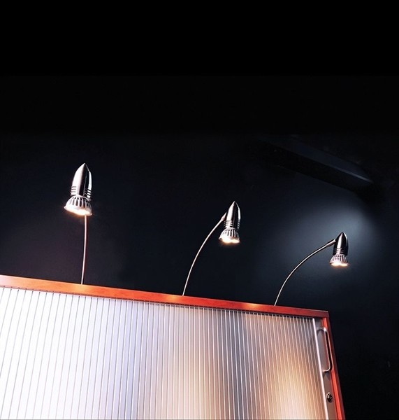 Kapego Möbelaufbauleuchte, Pilas II, exklusive Leuchtmittel, Warmweiß, spannungskonstant, Metall