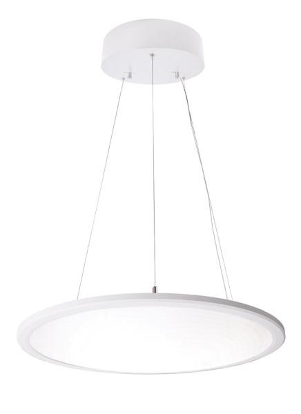 Deko-Light Pendelleuchte, LED Panel transparent rund, Aluminium, weiß, Neutralweiß, 150°, 50W, 230V