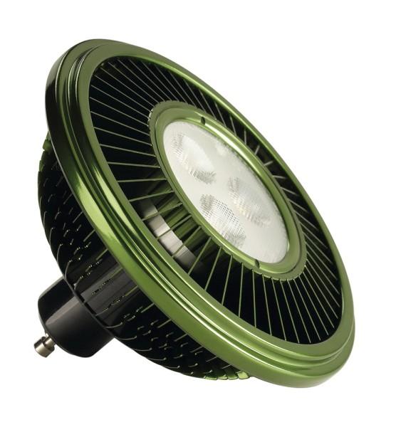 LED ES111, Leuchtmittel, grün, 15W, 30°, 2700K