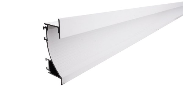 Reprofil Profil, Trockenbau-Profil, Wandvoute EL-02-12, Aluminium, Weiß-matt, 2000mm