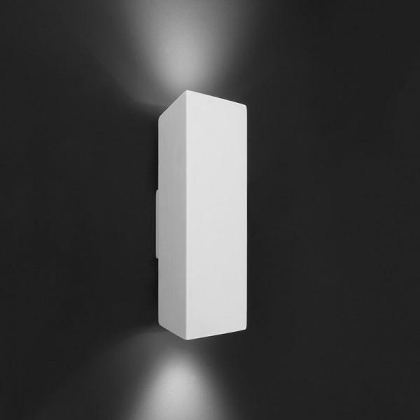 Deko-Light Wandaufbauleuchte, Essa, Gips, weiß überstreichbar, 35W, 230V, 255x75mm