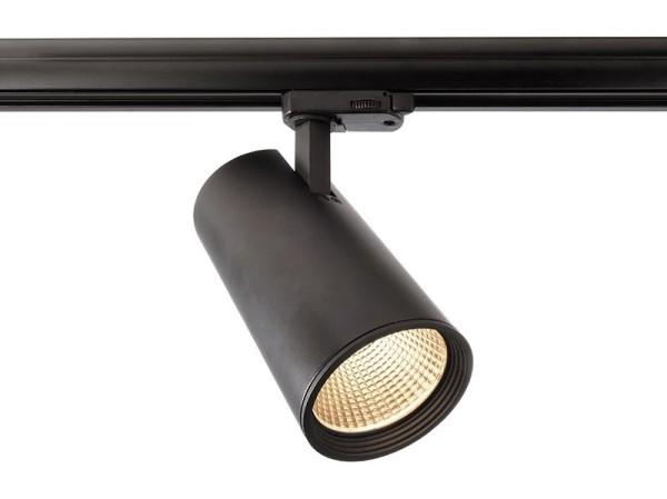 Deko-Light Schienensystem 3-Phasen 230V, Luna 30, Aluminium Druckguss, schwarz mattiert, Warmweiß