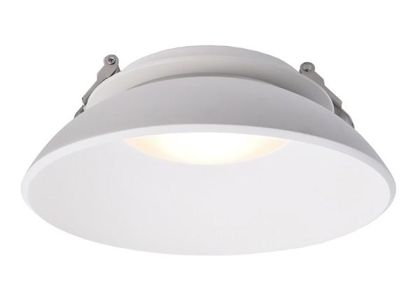 Deko-Light Deckeneinbauleuchte, Kaus, Aluminium Druckguss, weiß matt, Warmweiß, 105°, 14W, 230V
