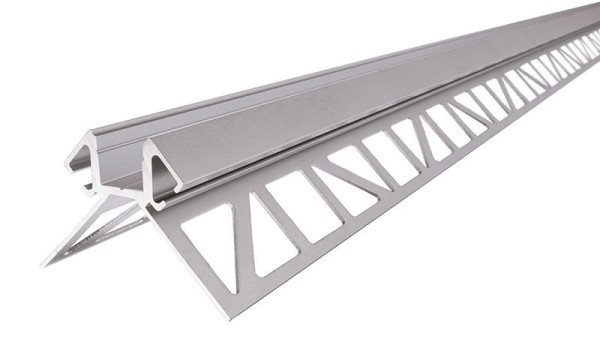 Reprofil Profil, Fliesen-Profil Ecke außen EV-02-08, Aluminium, Silber-matt eloxiert, 2500mm