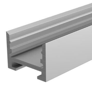 Reprofil Profil, Nuten-Profil, U-hoch AU-10-12, Aluminium, Weiß lackiert, 3000mm