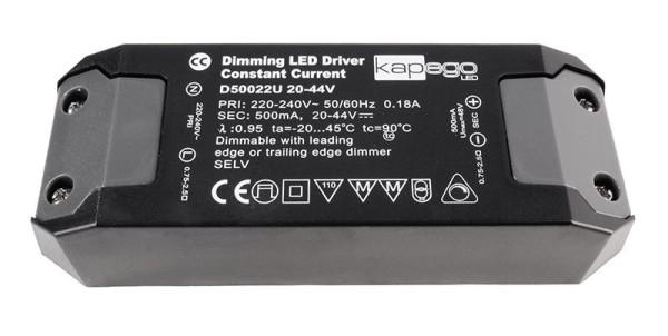 Deko-Light Netzgerät, BASIC, D50022U, Kunststoff, Schwarz, 22W, 20-44V, 500mA, 127x44mm