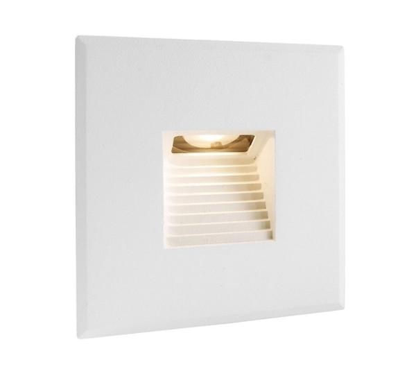 Deko-Light Zubehör, Abdeckung weiß eckig für Light Base COB Indoor, Aluminium, Weiß, 85x85mm