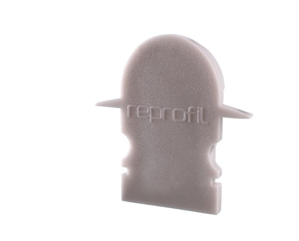 Reprofil Profil Zubehör, Endkappe R-ET-02-08 Set 2 Stk, Kunststoff, Grau, 23x6mm