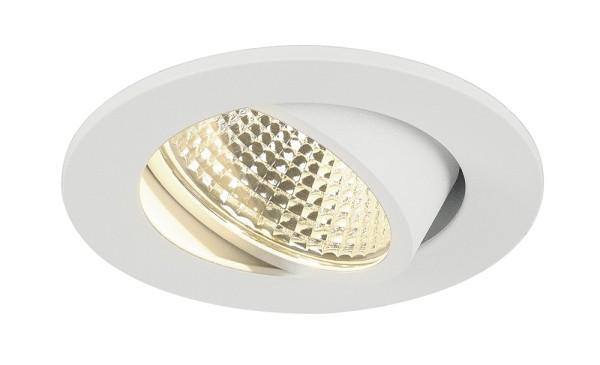 NEW TRIA 1 SET, Einbauleuchte, LED, 3000K, rund, weiß, 38°, inkl. Treiber, Clipfedern