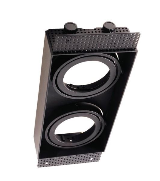 Deko-Light Zubehör, Kardaneinsatz ohne Rahmen für Modular Sytem COB, Aluminium, Schwarz mattiert