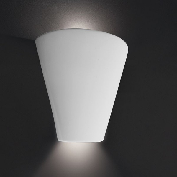 Deko-Light Wandaufbauleuchte, Ilaria, Gips, weiß überstreichbar, 40W, 230V, 245x115mm