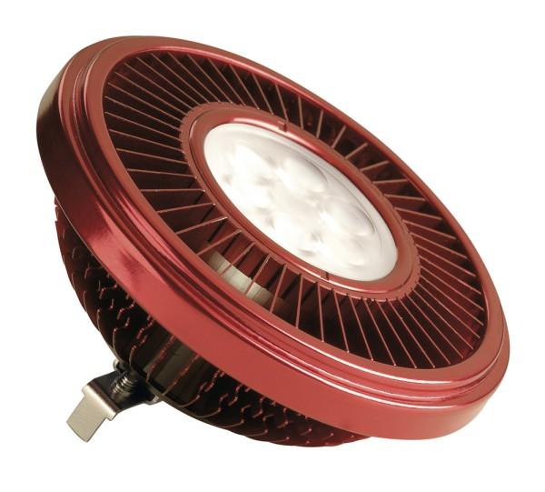 LED QRB111, Leuchtmittel, rot, 19,5W, 30°, 2700K, dimmbar