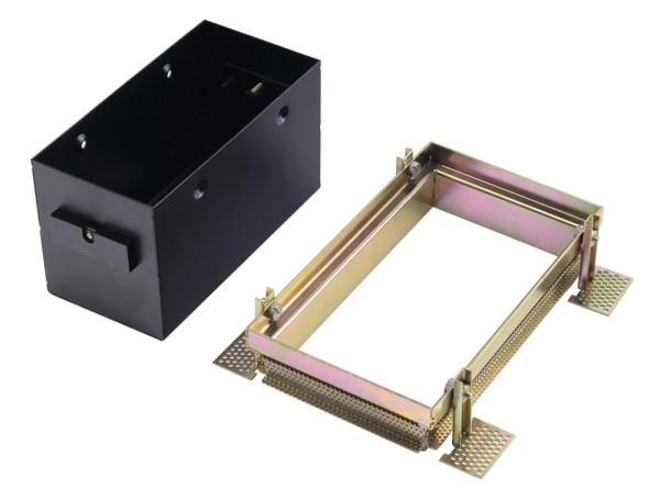 EINBAURAHMEN 2 FRAMELESS, für AIXLIGHT PRO, rechteckig, schwarz, L/B/H 18,8/10,2/10,5 cm