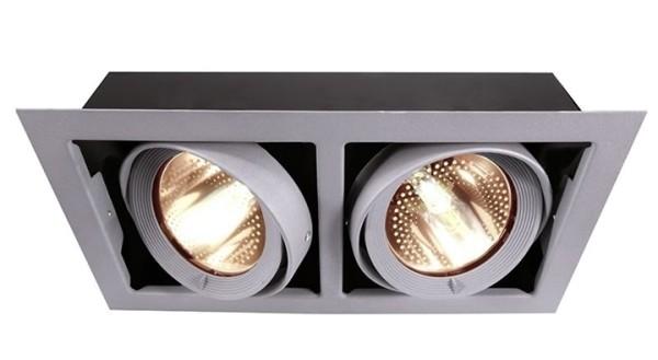 Kapego Deckeneinbauleuchte, Kardan, exklusive Leuchtmittel, Silber-matt, spannungskonstant, G12