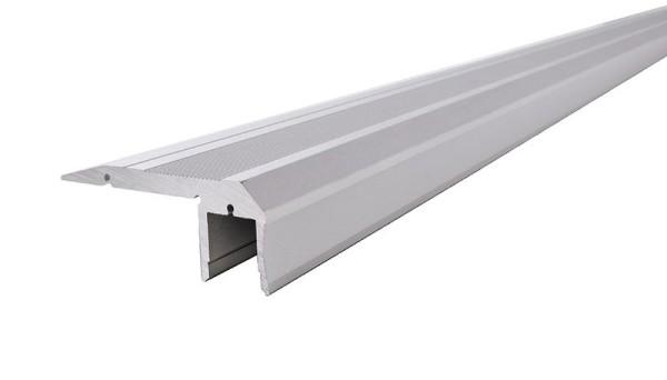 Reprofil Profil, Treppenstufen-Profil AL-02-10, Aluminium, Silber-matt eloxiert, 2000mm