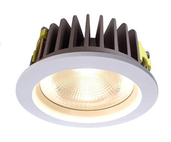 Deko-Light Deckeneinbauleuchte, COB 210, Aluminium, weiß, Warmweiß, 60°, 37W, 35V, 1050mA