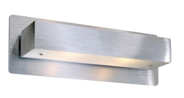 Deko-Light Wandaufbauleuchte, Intruder II, Aluminium, silberfarben gebürstet, 40W, 230V, 230x85mm