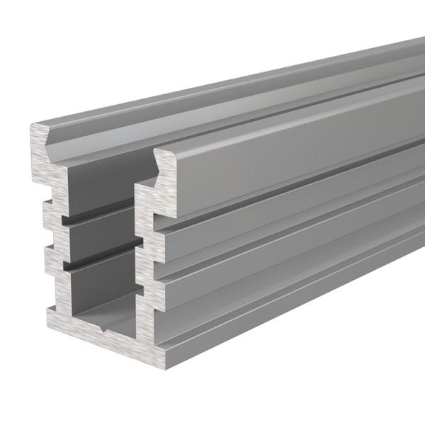 Reprofil, IP-Profil, U-hoch, befahrbar EU-01-12 für LED Stripes bis 13,3 mm, Silber-matt, 2000 mm