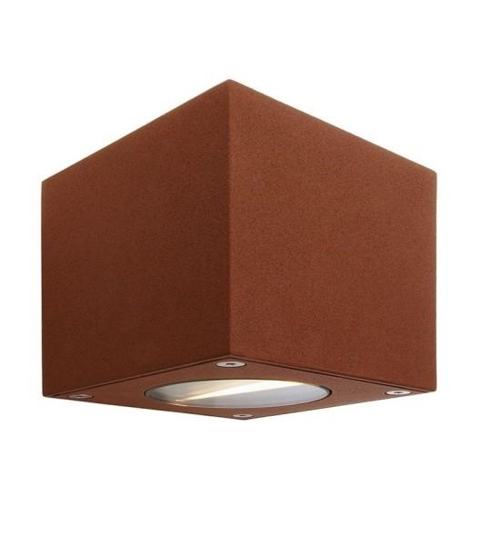 Deko-Light Wandaufbauleuchte, Cubodo B, Aluminium Druckguss, braun, Warmweiß, 80°/40°, 5W, 230V