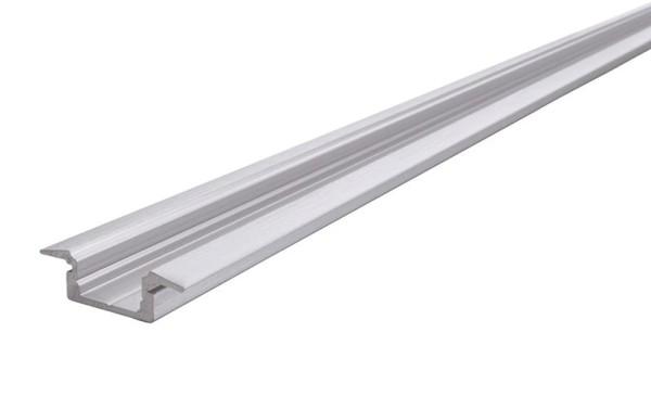 Reprofil Profil, T-Profil flach ET-01-08, Aluminium, Silber gebürstet, 2000mm