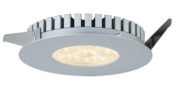 KapegoLED Deckeneinbauleuchte, TD26 I, inklusive Leuchtmittel, Silber, Warmweiß, Abstrahlwinkel: 40°