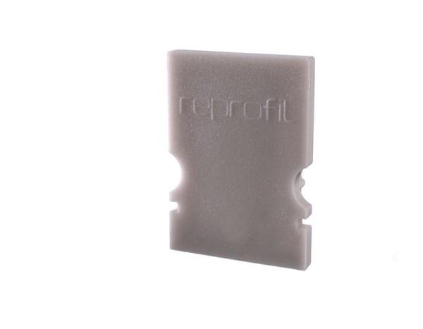 Reprofil Profil Zubehör, Endkappe H-AU-02-08 Set 2 Stk, Kunststoff, Grau, 14x6mm