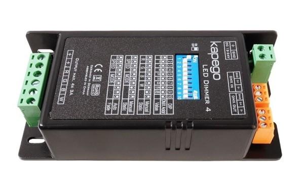 Deko-Light Controller, LED Dimmer 4, Kunststoff, Schwarz, 288W, 12-24V, 115x57mm