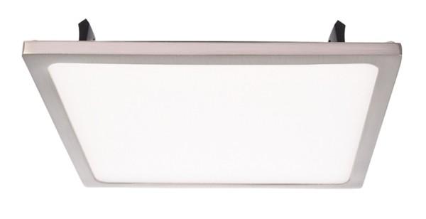 Deko-Light Deckeneinbauleuchte, LED Panel Square II 16, inklusive Leuchtmittel, Silber, gebürstet