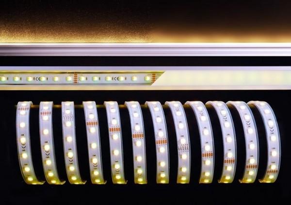 Deko-Light Flexibler LED Stripe, 5050-60-24V-RGB+4200K-5m-Silikon, Kupfer, Weiß, RGB + Neutralweiß