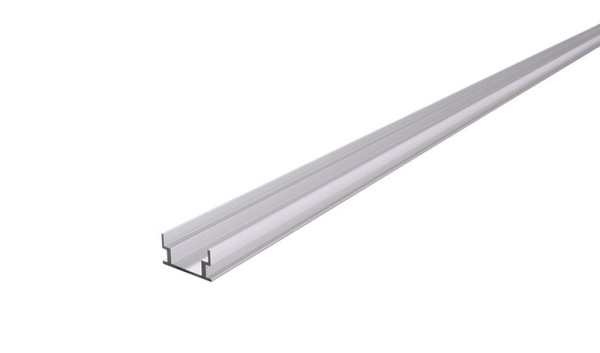 Reprofil Profil, IP-Profile, U-flach AU-04-12, Aluminium, Silber-matt eloxiert, 3000mm