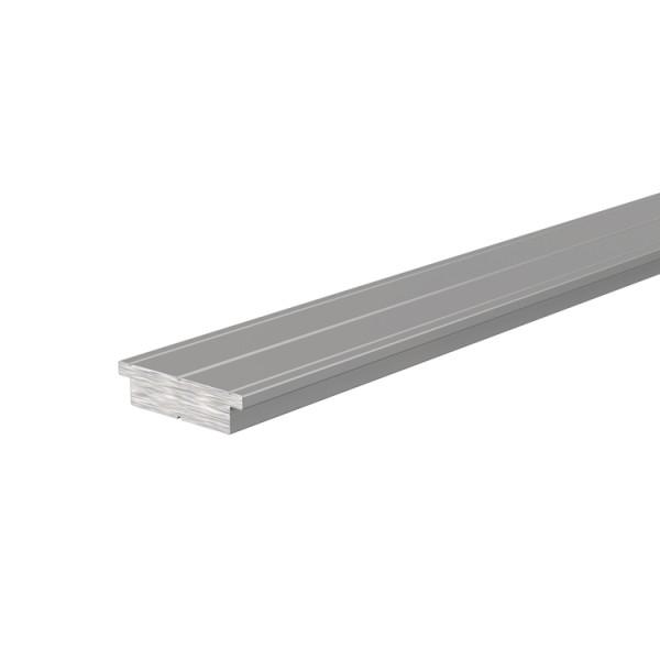 Reprofil, Trägerprofil, LED-Träger T-01-15 für LED Stripes bis 16,3 mm, Silber-matt, 1000 mm